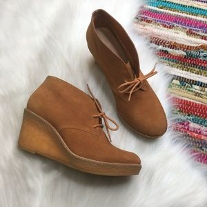 Cole Haan Halley Lace Up Chukka Wedge Heel Bootie
